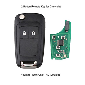 2 Button Remote Key for Chevrolet Aveo / Cruze / Orlando (Aftermarket)