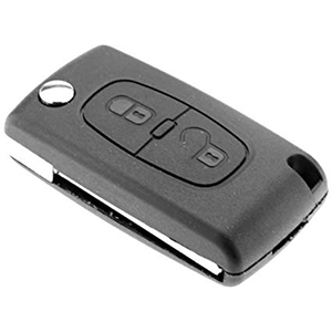 Peugeot 807 / Expert 2 Button Remote Key (2009 + ) (6490AH)